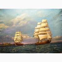 Продам старинную картину Море, 19 век