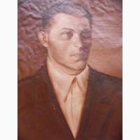 Портрет неизвестного, холст, масло, 30-40-е годы СССР