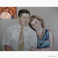 Портрет пастелью Киев.Портрет пастелью цена.Портрет Киев цена.Портрет на заказ Киев