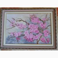 Картина Ветка Сакуры (светящаяся) вышивка крестом / вишивка хрестиком