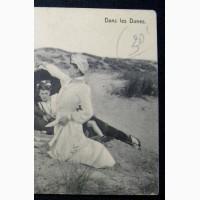 Открытка (ПК). Бельгия. Остенде Пляж в дюнах. 1912г. Лот 246